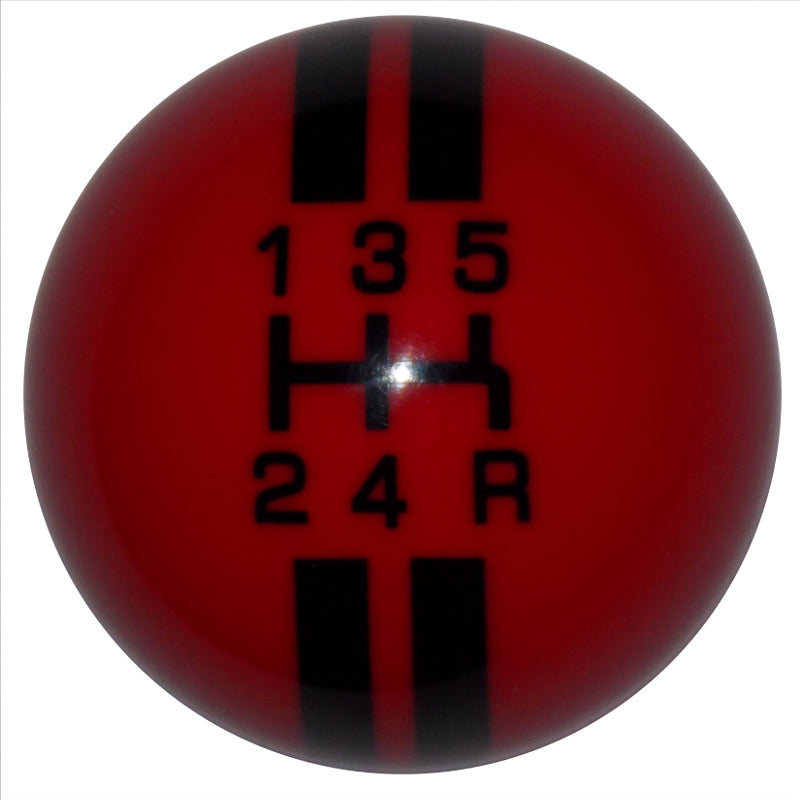Rally Stripe 5 Speed Red with Black Shift Knob