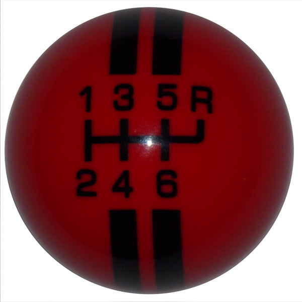 Rally Stripe 6 Speed Red with Black Shift Knob