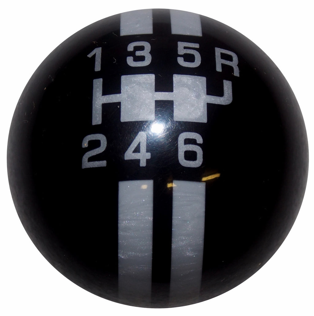Rally Stripe 6 Speed Black With Gray Shift Knob