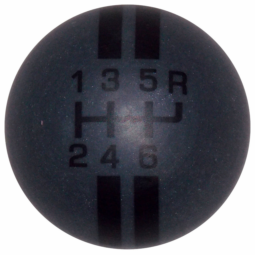 Rally Stripe Carbon Graphite with Black Stripes 6 Speed Shift Knob