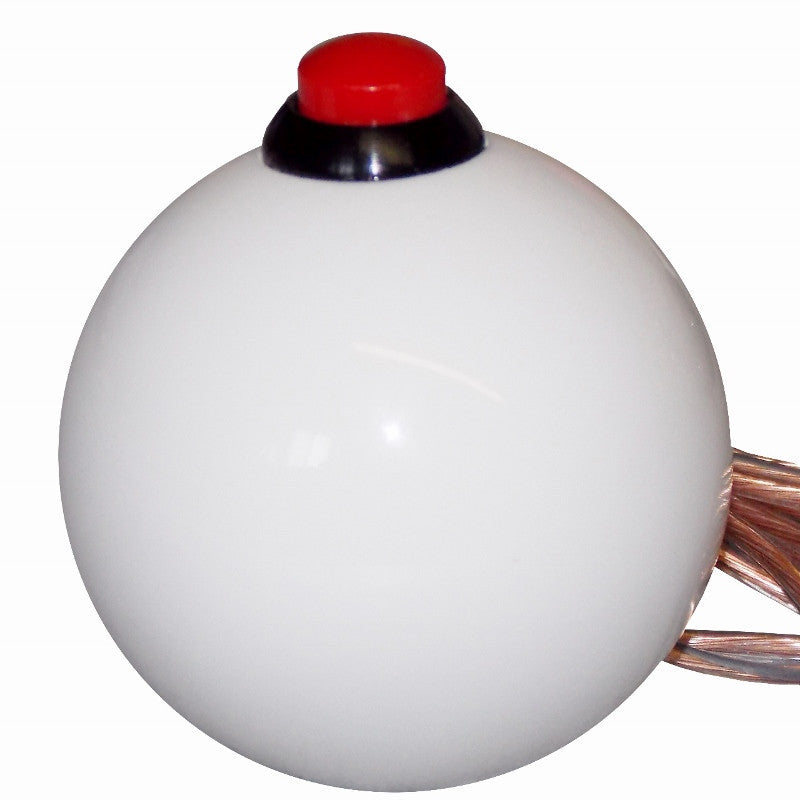 White Top Push Button Shift Knob
