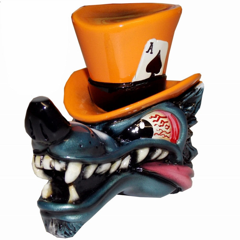 Top Hat Wolf - Orange Shift Knob