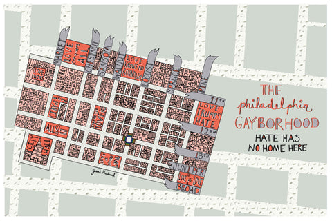 Map of Philly Gayborhood - Jessie husband