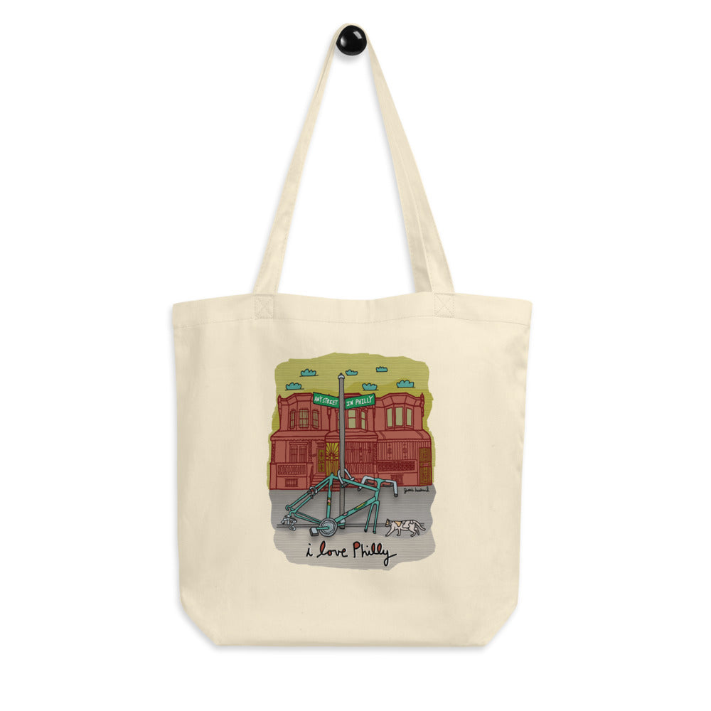 Philly bike parts tote bag - Jessie husband