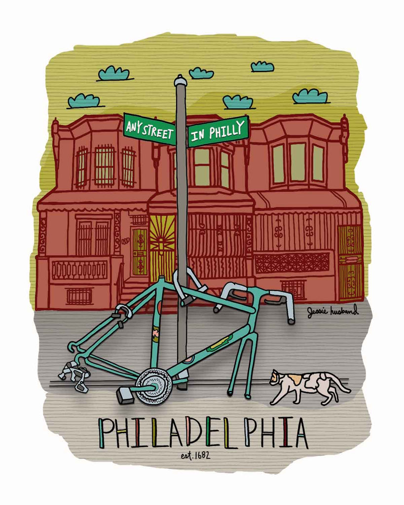 Philadelphia bike parts print - Jessie husband