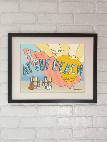 The Avett Brothers At The Beach Poster - 2018 - Jessie husband