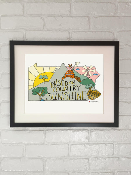 Raised on Country Sunshine, Dottie West Lyric Art - Jessie husband