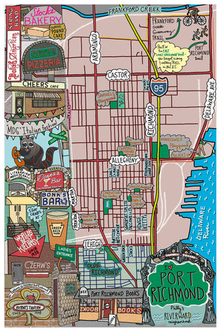 Map of Port Richmond, Philadelphia - Jessie husband
