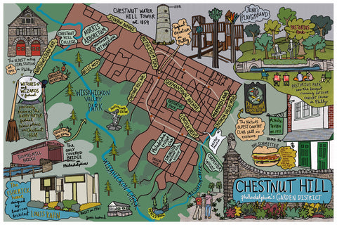 Map of Chestnut Hill, Philadelphia - Jessie husband