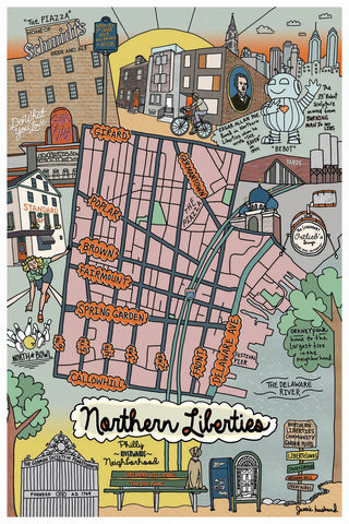 Map of Northern Liberties, Philadelphia - Jessie husband
