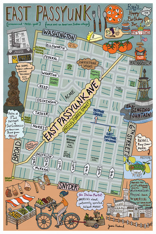 Map of East Passyunk, Philadelphia - Jessie husband