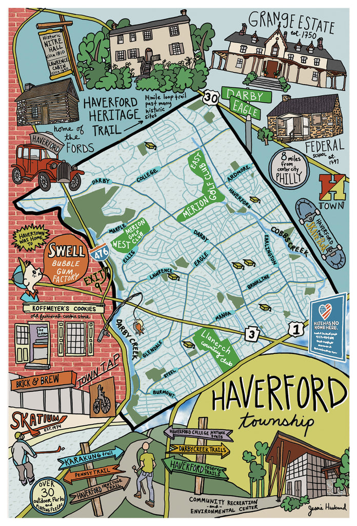 Map of Haverford Township, Pennsylvania - Jessie husband