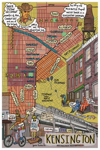 Map of Kensington, Philadelphia - Jessie husband