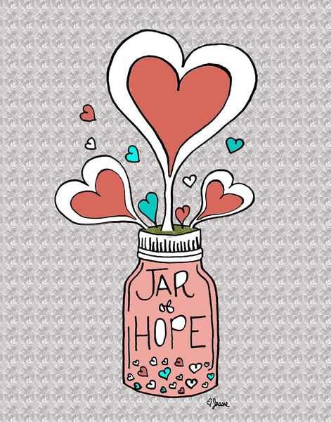 Jar of Hope Pillow - Jessie husband