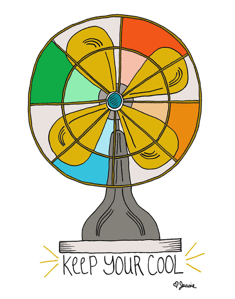 Keep your cool Print - Jessie husband