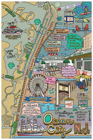 Map of Ocean City, New Jersey - Jessie husband