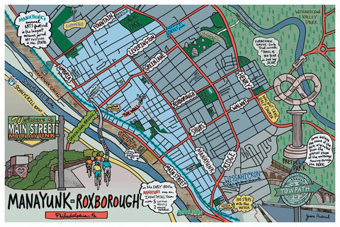 Map of Manayunk - Roxborough, Philadelphia - Jessie husband