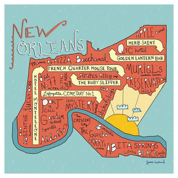 New Orleans, Louisiana Map - Jessie husband