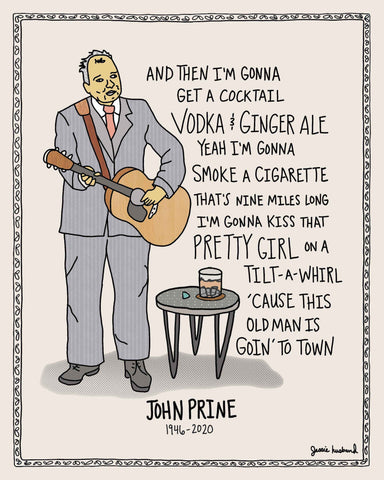 When I get to heaven, John Prine Lyrics - Jessie husband