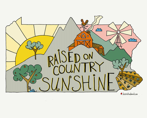 Raised on Country Sunshine, Dottie West Lyric Art