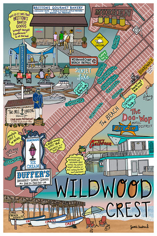 Map of Wildwood Crest, New Jersey - Jessie husband