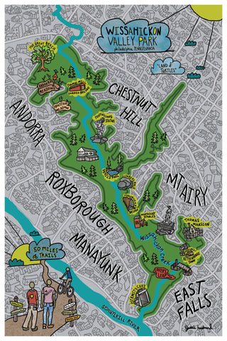 Map of Wissahickon Valley Park, Philadelphia - Jessie husband
