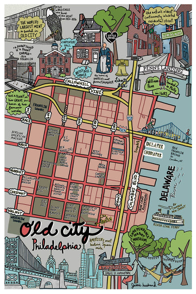 Map of Old City, Philadelphia - Jessie husband