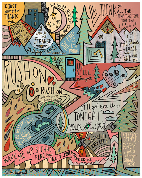 Nathaniel Rateliff (& the Night Sweats) lyric art - Jessie husband
