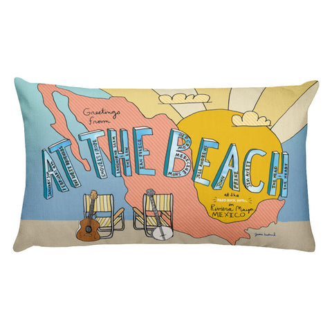 The Avett Brothers At The Beach Rectangular Pillow - 2018 - Jessie husband