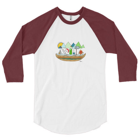 Fresh Air 3/4 sleeve raglan shirt - Jessie husband