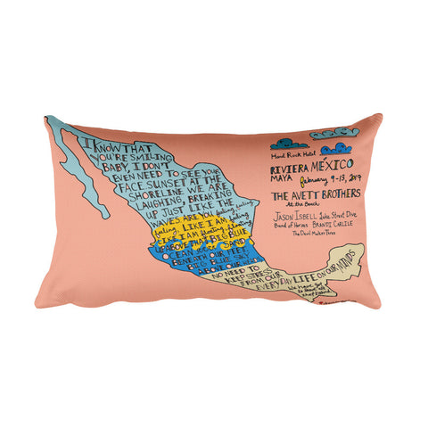 The Avett Brothers At The Beach Rectangular Pillow - 2017 - Jessie husband