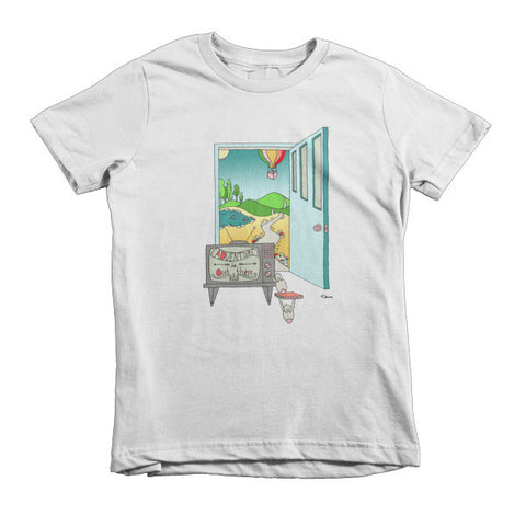 Adventure is out there - Short sleeve kids t-shirt - Jessie husband