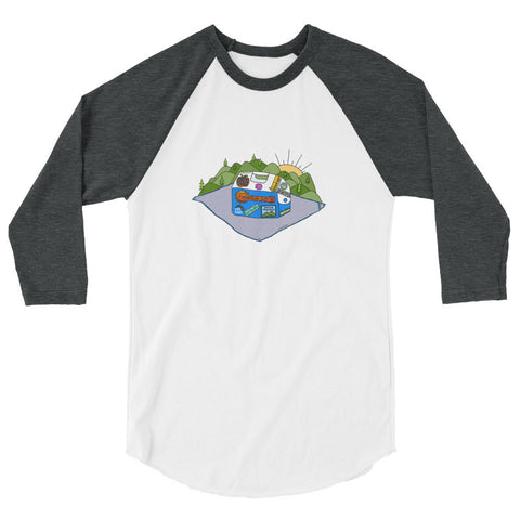 Mountain Jam Cooler Tee 3/4 sleeve raglan shirt - Jessie husband