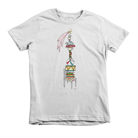 Reach for the stars - Short sleeve kids t-shirt - Jessie husband