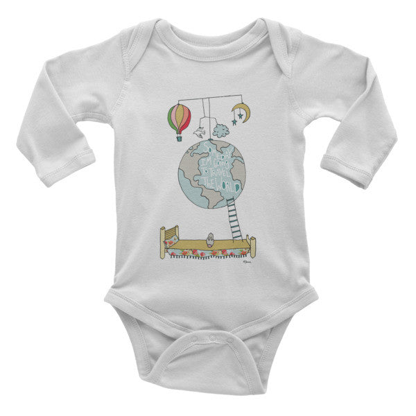 Travel the world - Infant long sleeve one-piece - Jessie husband