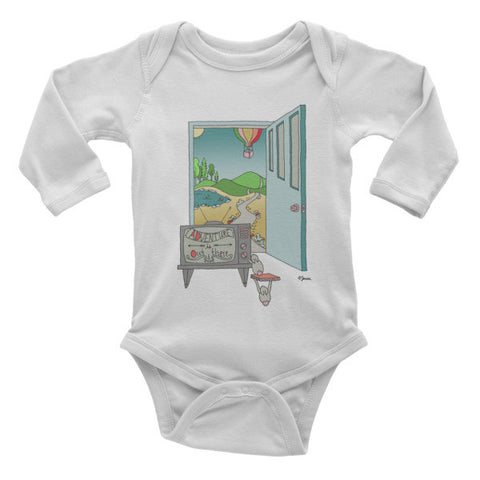 Adventure is out there - Infant long sleeve one-piece - Jessie husband
