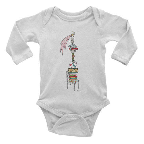Reach for the stars - Infant long sleeve one-piece - Jessie husband