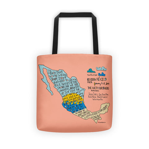 The Avett Brothers in Mexico Tote bag - Jessie husband