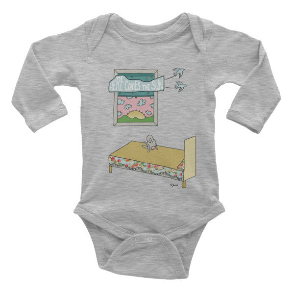 Here comes the sun - Infant long sleeve one-piece - Jessie husband