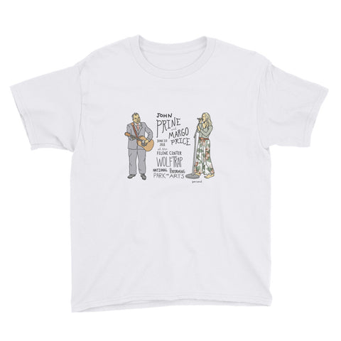 John Prine & Margo Price Youth Short Sleeve T-Shirt - Jessie husband
