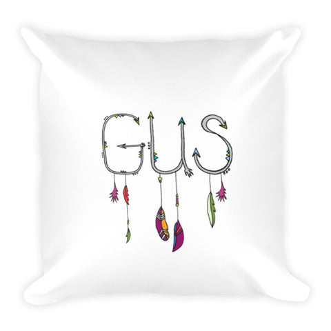 Feather arrow name Pillow - customizable - Jessie husband