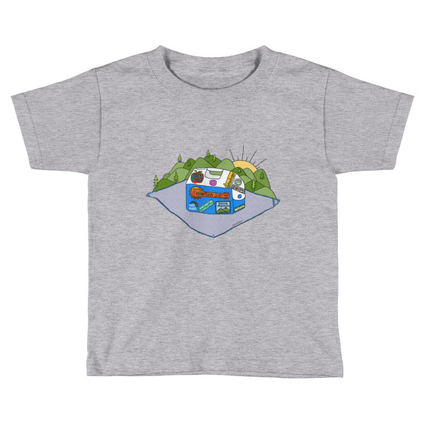 Mountain Jam Cooler Tee Kids Short Sleeve T-Shirt - Jessie husband