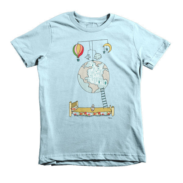 Travel the world - Short sleeve kids t-shirt - Jessie husband