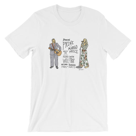 John Prine & Margo PriceShort-Sleeve Unisex T-Shirt - Jessie husband