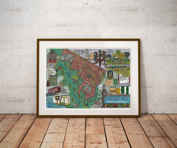 Map on Chestnut Hill, Philadelphia - Jessie husband