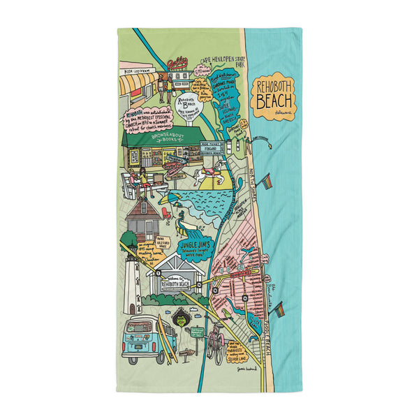 Map of Rehoboth Beach Towel - Jessie husband