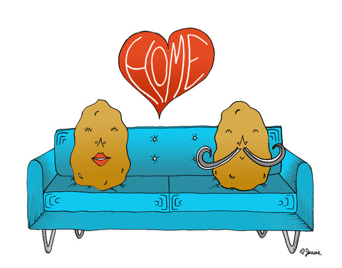 Couch Potato Home Print - Jessie husband