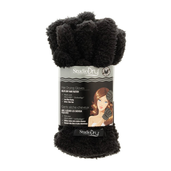 STUDIO DRY HAIR GLOVES (black) - Delineation