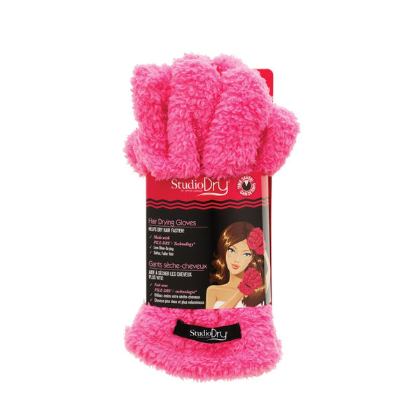 STUDIO DRY HAIR GLOVES (pink) - Delineation
