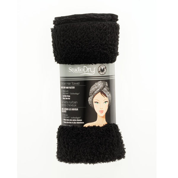STUDIO DRY TURBAN TOWEL (black) - Delineation